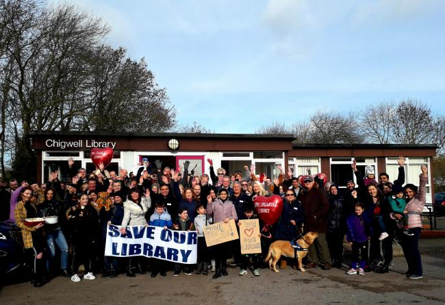 Chigwell Library was one of many libraries set to close  by Essex County Council