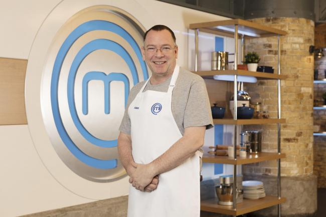 Adam Woodyatt, one of the contestants in this year's Celebrity MasterChe