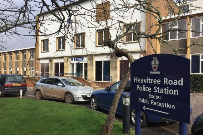 Heavitree Road Police Station where Thomas Orchard was restrained in October 2012