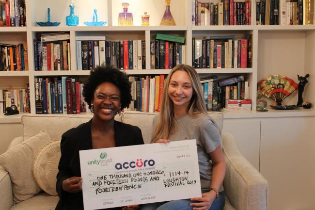 A total of £1,114.44 was raised for Accuro during the month-long Loughton Town Festival