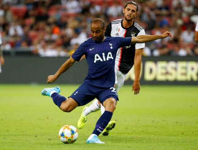 Lucas Moura in action for Tottenham Hotspur against Juventus at the International Champions Cup in Singapore. Picture: Action Images
