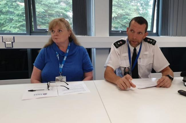 South LPA Commander Chief Supt Kevin Baldwin (right) and Tricia D'Orsi, Chief Nurse for NHS Castle Point and Rochford CCG and NHS Southend CCG (left)