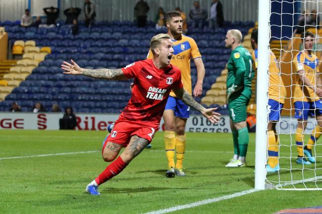 Jordan Maguire-Drew celebrates after scoring the winning goal for Leyton Orient in their League Two win against Mansfield Town. Picture: Simon O'Connor