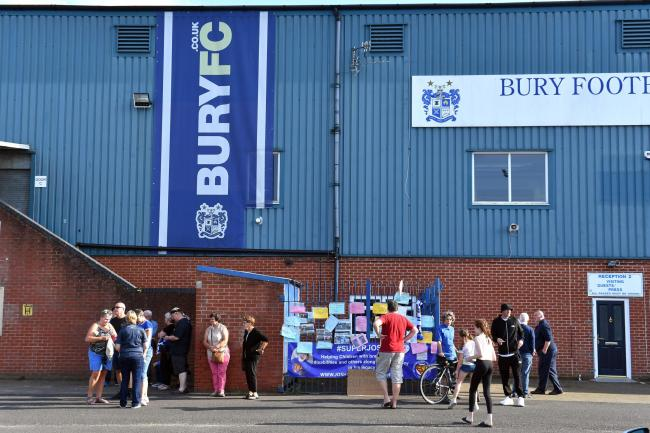 Bury fans face an anxious wait over the future of their club