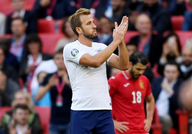 Harry Kane applauds the England fans. Picture: Action Images
