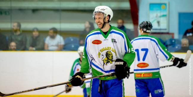 Joe Berry scored twice for Lee Valley Lions against Invicta Mustangs. Picture: Phil Hutchinson
