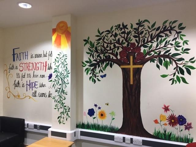 The brand-new faith chaplaincy room for Epping St. John's School pupils to relfect