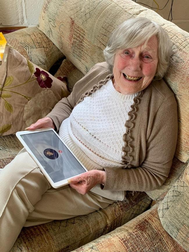 Elizabeth, 91, a living smart home resident in Epping, has been provided with a tablet.