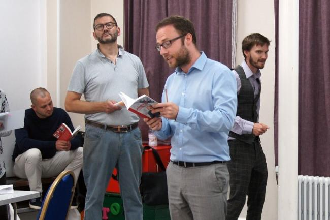 Loughton Amateur Dramatic Society rehearse Pressure, by David Haig