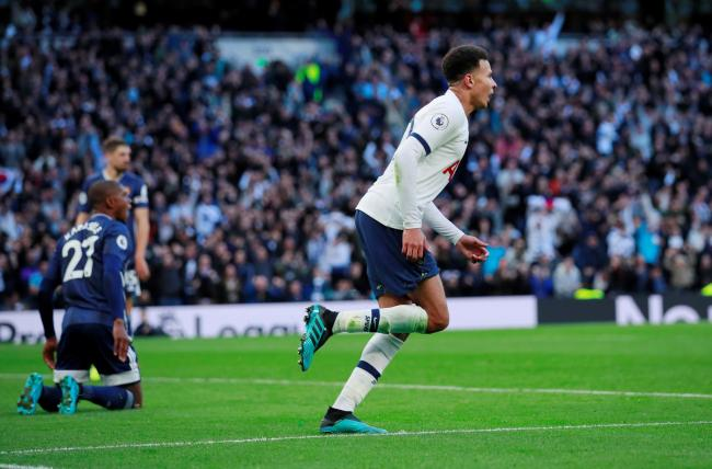 Dele Alli celebrates his late equaliser. Picture: Action Images