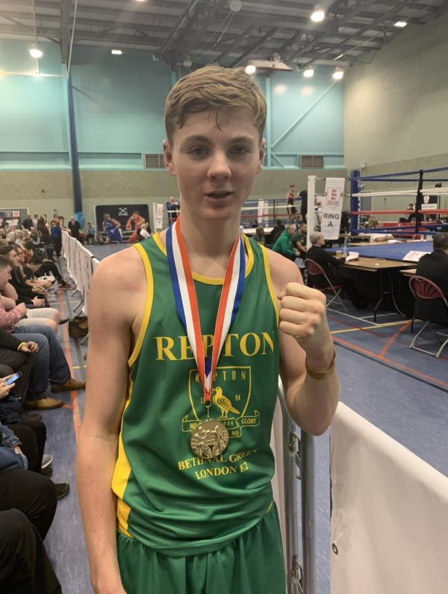Louie Ward won the junior 57kg national title for England Boxing Nationals last Sunday.