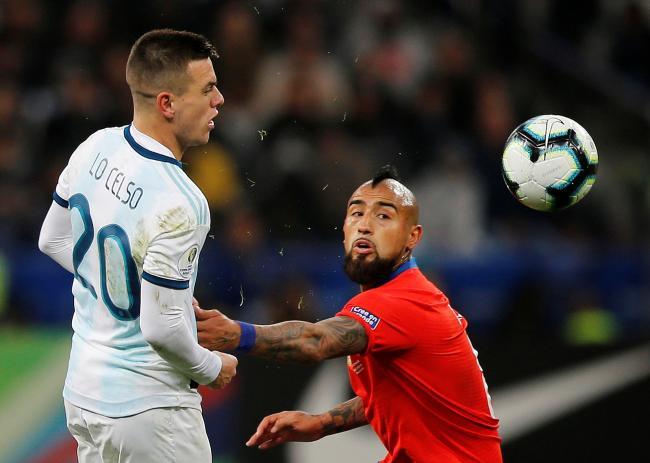 Giovani Lo Celso in action for Argentina. Picture: Action Images