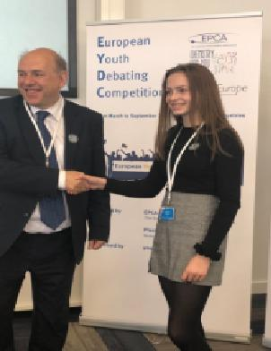 Year 11 student Charlotte, from Roding Valley High School, secured seventh place at the European Youth Debating Competition.