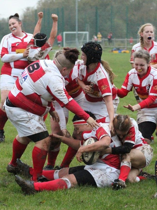 Epping Ladies score their first try.