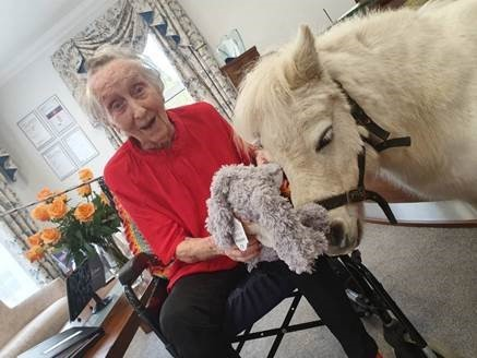 Waltham Abbey centenarian surprised with pony on 100th birthday - Epping Forest Guardian