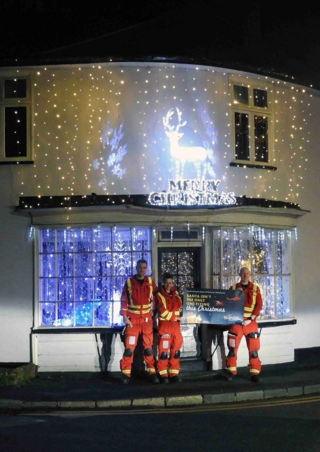 Gail and Jason Clark are decoating their house with Christmas to fundraise for Essex & Herts Air Ambualnce Trust