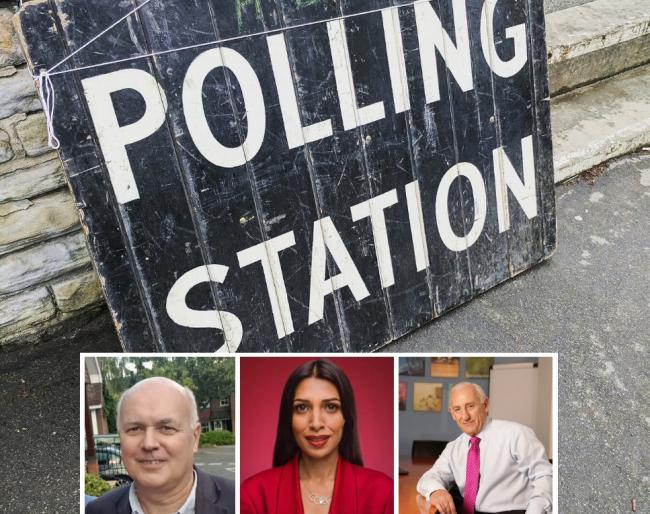 Iain Duncan Smith, Faiza Shaheen and Geoff Seeff are the three candidates for Chingford and Woodford Green