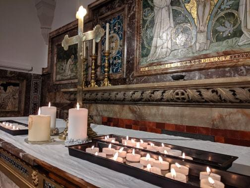 Several candles were lit at St John's Church in memory of 12-year-old Harley Watson