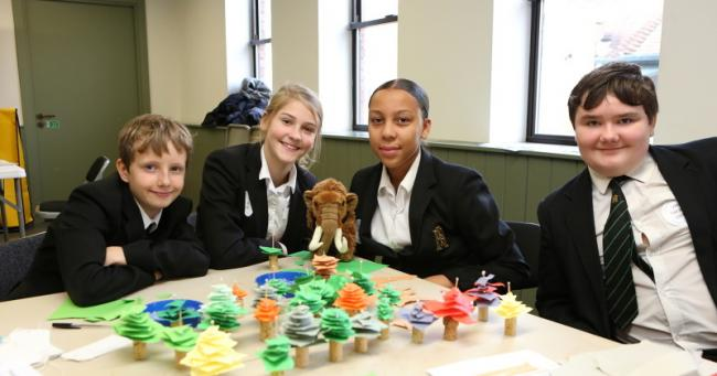 SYear 8 students from King Harald Business & Enterprise Academy ran climtae change themed activties for Takeover Day at Epping Forest District Museum