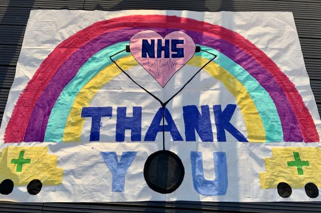 Year 7 students who are attending Sir Frederick Gibberd College, in Harlow, created messages of thanks to key workers.