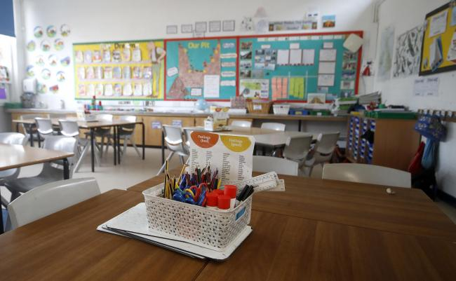 CLASSROOM: Schools across England are set to return in June, subject to any future changes. Picture: PA Wire