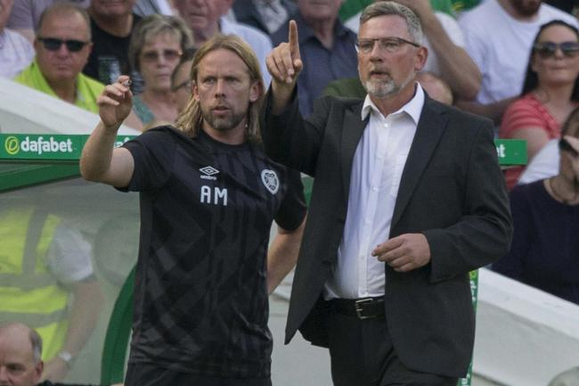 Craig Levein (right) and assistant Austin Macphee (left) have left Hearts