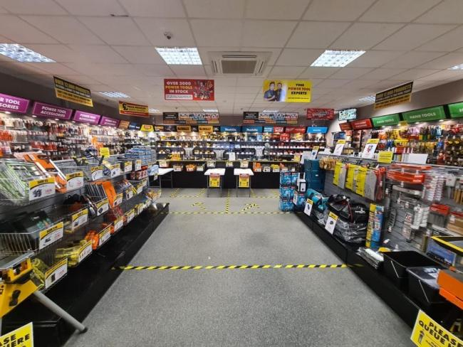 ITS trade and DIY stores have reopened their showrooms with social distancing measures in place. Photo: ITS