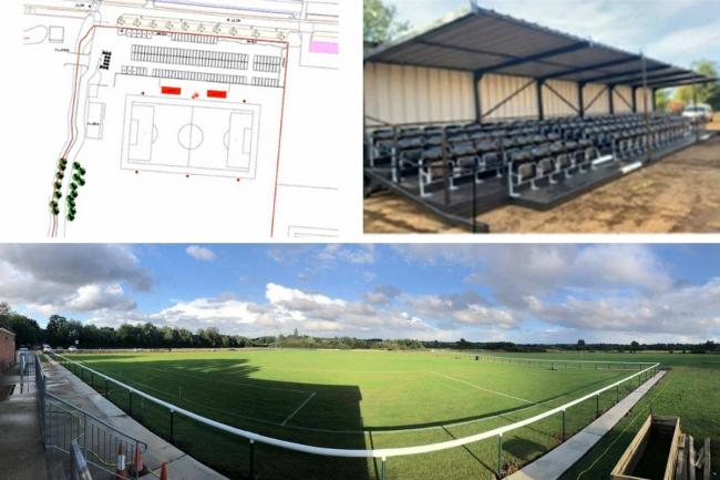 Plans to develop Buckhurst Hill Football Club's ground in Roding Lane have been unanimously approved by Epping Forest District Council. Photos: Buckhurst Hill FC/EFDC
