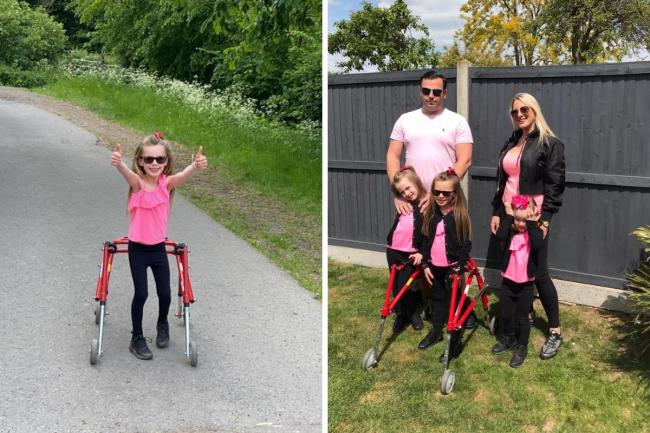 Lily will be accompanied on the 15km walk for Haven House Children's Hospice by her sisters Lola and Lacey along with mum Kelly and dad Adam.