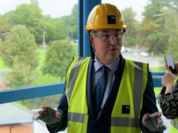 Cllr Chris Whitbread visited the site earlier this month. Photo: EFDC