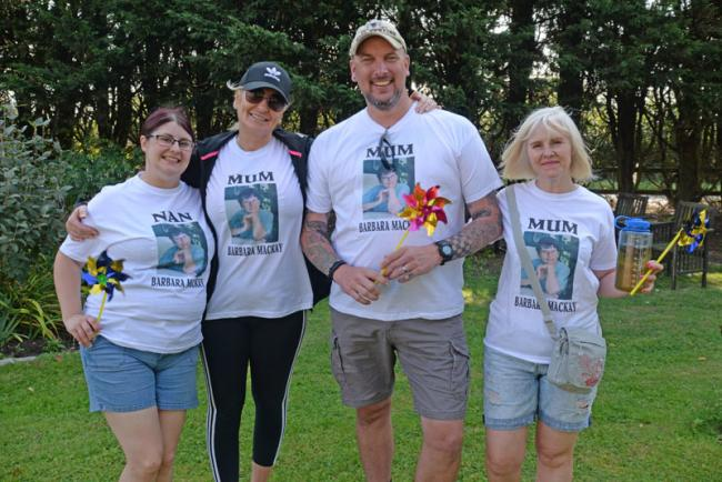 A family at the Walking in Memory fundraising event. Photo: St Clare's Hospice
