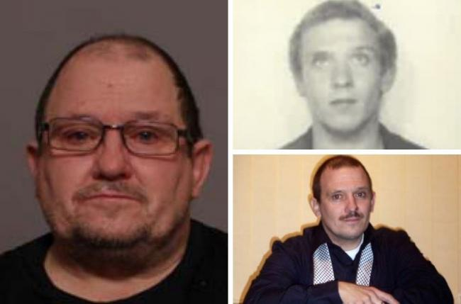 Anthony Lewis now (left) as well as images of when he was younger. Credit: Norfolk Police