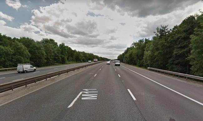 Polic were called to the M11 near Harlow. Photo: google Maps