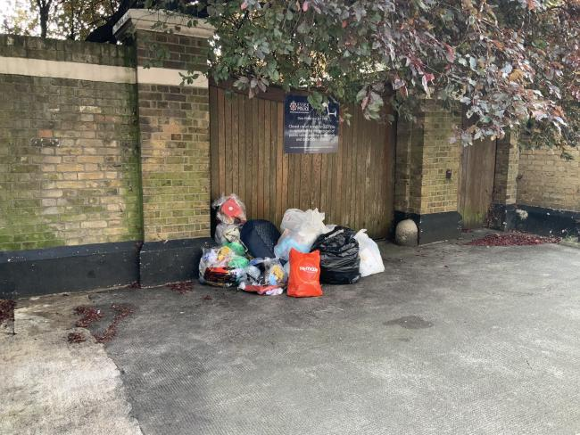 The former Sun Street police station in Waltham Abbey is often illegaly filled with rubbish. Photo: Dave Plummer