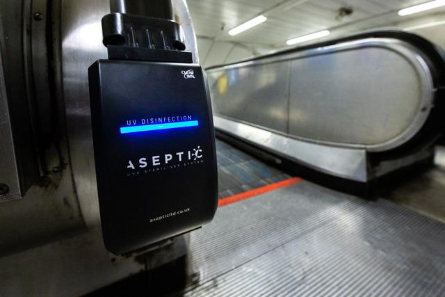 Look out for these ultraviolet light cleaners at King's Cross station (Photo: TfL).