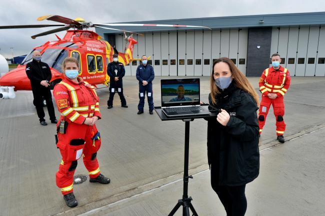 EHAAT CEO Jane Gurney takes possession of new airbase. Photo: EHAAT