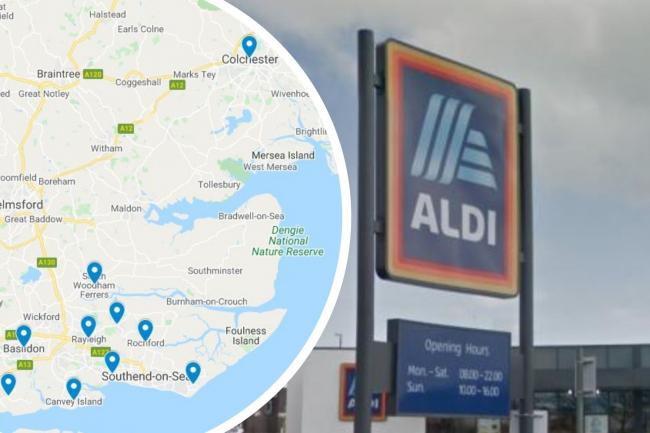 The 15 towns in Essex where Aldi wants to build new shops