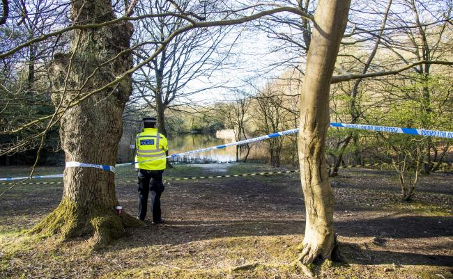Metropolitan Police officers at the scene at the Wake Valley pond in Epping Forest following the discovery of a man's body. Richard Okorogheye's mother has reportedly been told the body found by police in Epping Forest on Monday matches his