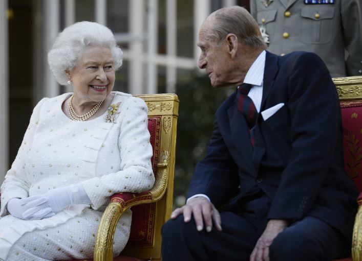 The Duke pictured with the Queen. Credit: PA