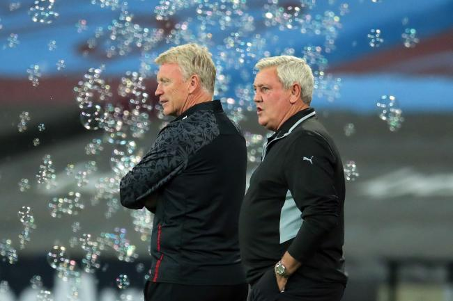 Steve Bruce, right, and David Moyes