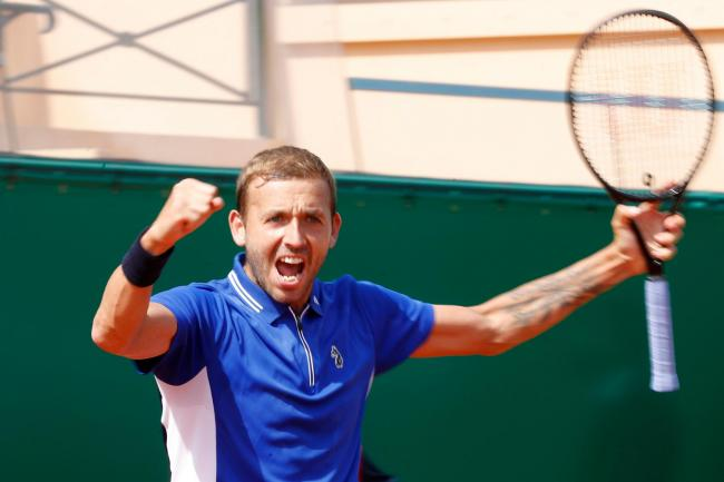 Dan Evans celebrates another fine win in Monte-Carlo
