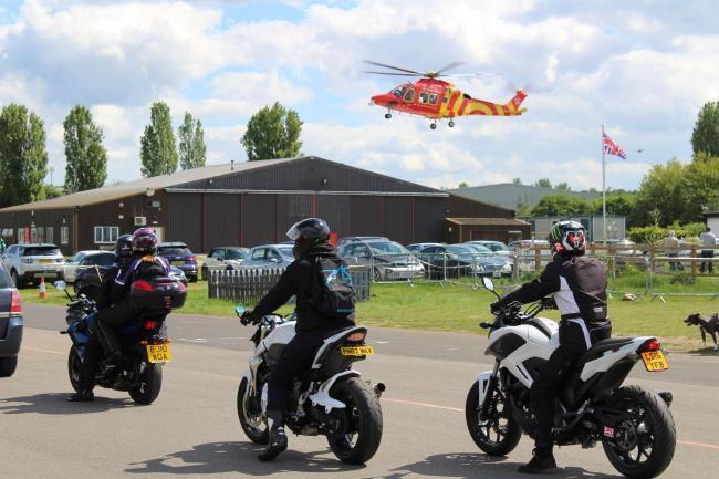 Bikers at EHAAT's North Weald Motorcycle Run in 2019. Photo: EHAAT