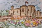 Realistic -  First place goes to Zoyaa Ali, aged 12, for her life like colouring of Colchester Castle