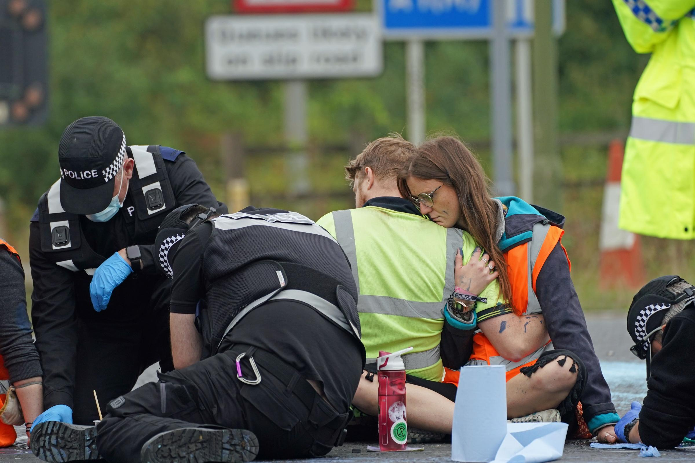 Environment protests lead to 29 arrests after M25 junction blocked