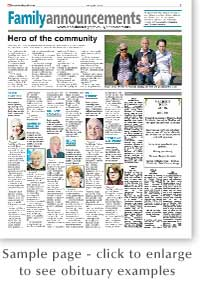 Epping Forest Guardian: Obituary Sample Page