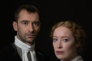 Charlie Condou and Victoria Yeates in The Crucible at Queen's Theatre Hornchurch
