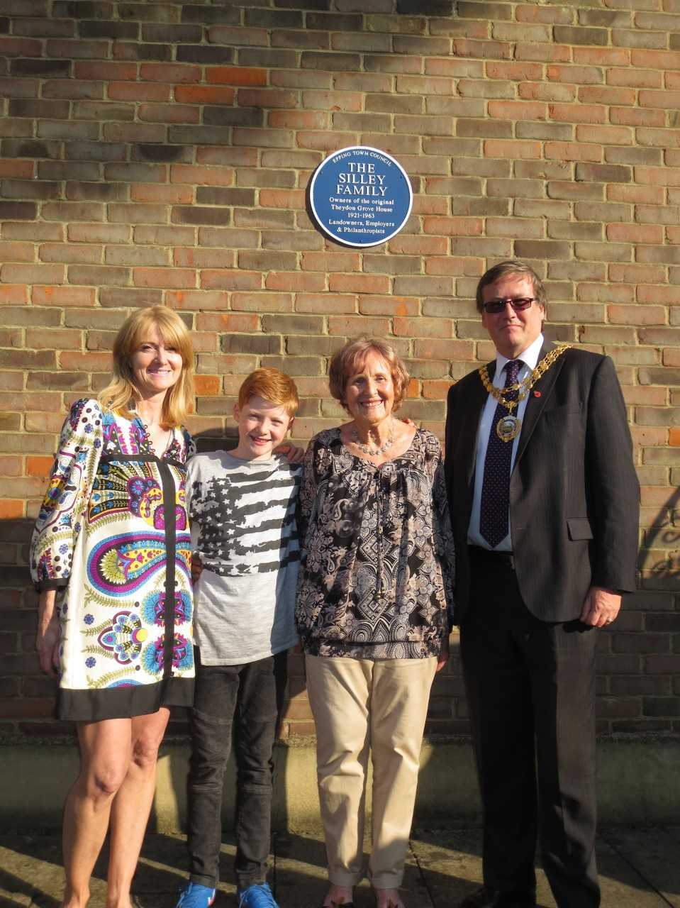 The unveiling of the blue plaque