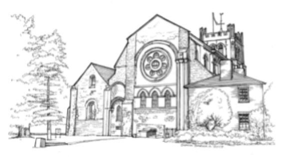 The drawing of Abbey Church