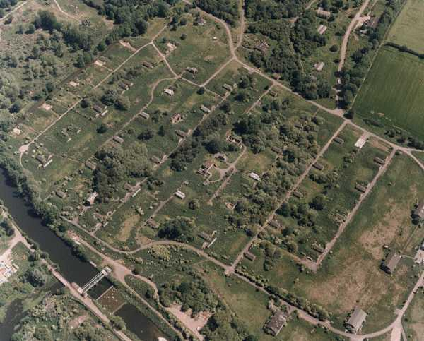 An aerial photograph of The Waltham Abbey Royal Gunpowder Mills. Photo: D. Strachan; copyright: Essex County Council