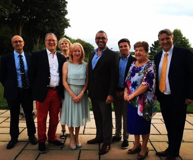 Eleanor Laing, James Cleverley and members of Epping Conservative Party
